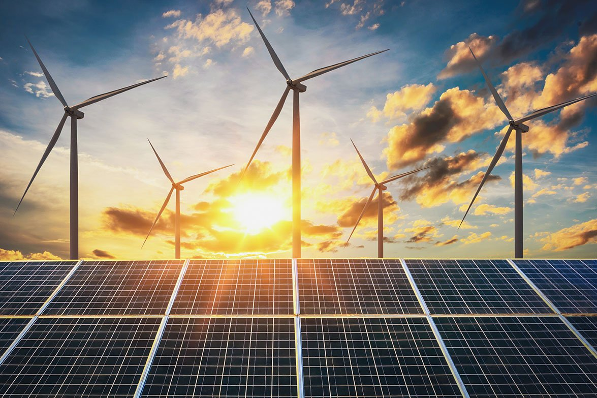 Renewable energy facilities, such as wind and solar farms, increase efficiency and reduce environmental impacts.