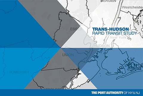 Map of Trans-Hudson area with blue and grey design