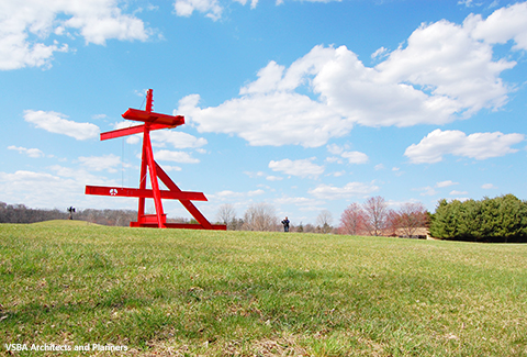 Contemporary outdoor sculpture at Storm King Art Center in New