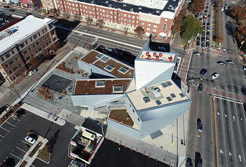 Rooftop view of VCU ICA in Richmond, Virginia.