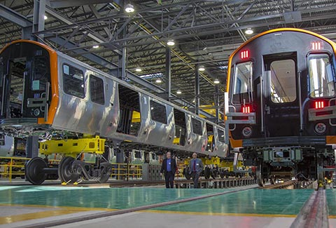 China Rail Cars in new assembly plant.