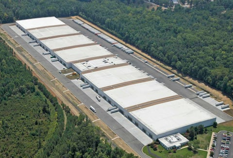Aerial view of the Philip Morris USA warehouse and distribution center in Richmond, Virginia.