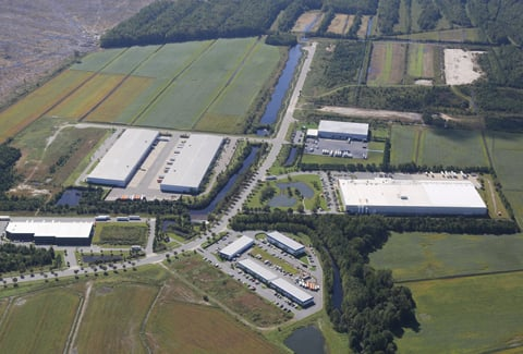 Aerial view of Prologis Park at Northgate Commerce Park in Suffolk, Virginia.