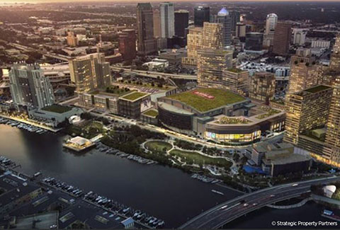Water Street Tampa is a new, mixed-use neighborhood in downtown Tampa.