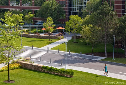 Campus view of Mathworks office in Natick, Massachusetts.