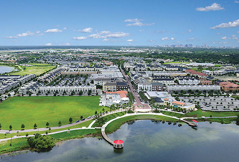 Baldwin Park is a vibrant mixed-use community in Orlando, Florida.