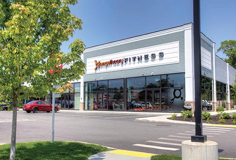 Orange Theory Fitness at the Shoppes at Wayfair in Attleboro, Massachusetts.