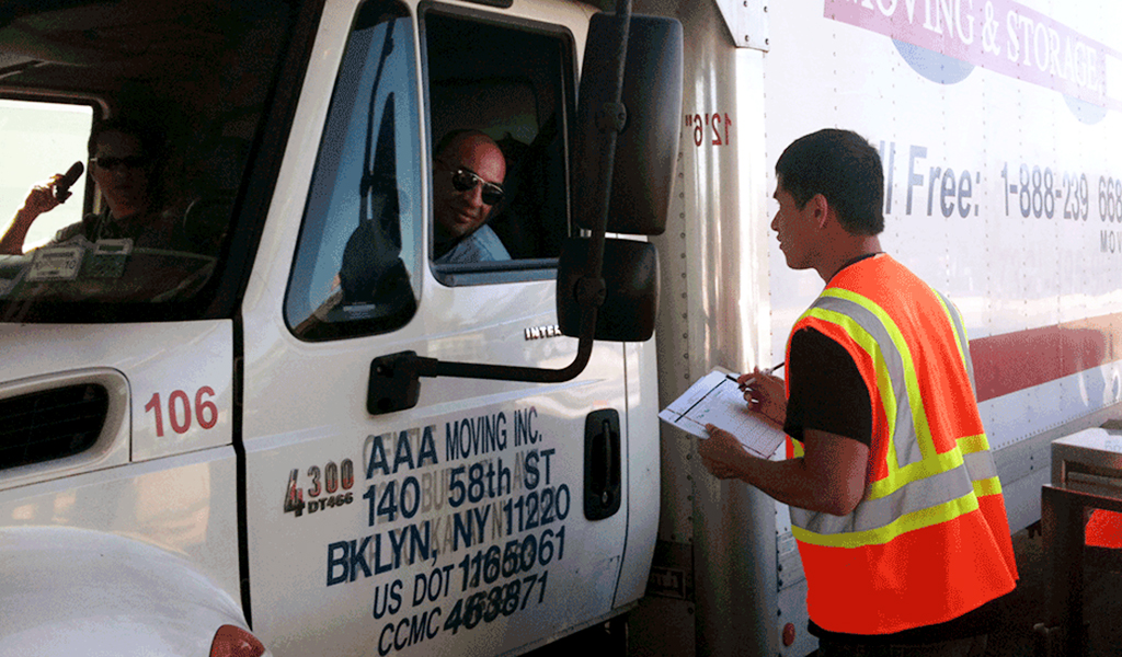 Survey conducted to gather information on commercial truck travel for PANYNJ.