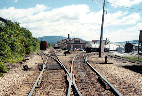 Switching yard in Rutland, Vermont.