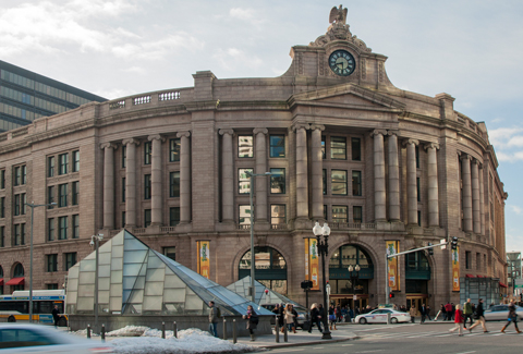 Boston's historic South Station.