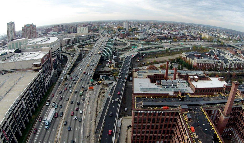 One of the most heavily traveled segments of I-95 is in Providence