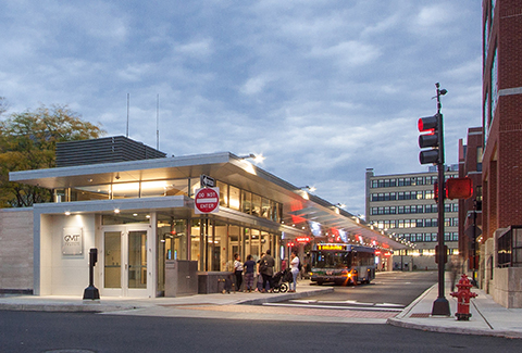 The new Downtown Transit Center serves as a gateway for Burlington, Vermont.