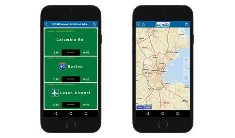 MassDOT's Go Time app allows users to see accurate estimates for travel times.