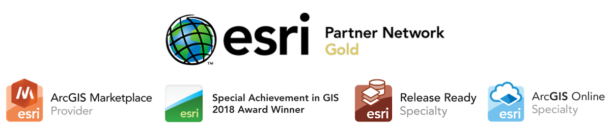 esri Partners Network Gold logos