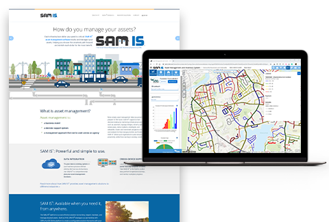 The SAM IS platform is a scalable solution to help municipalities and agencies track assets.