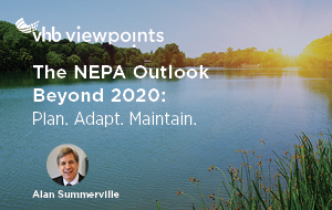 NEPA Changes sidebar photo of sunset over a lake