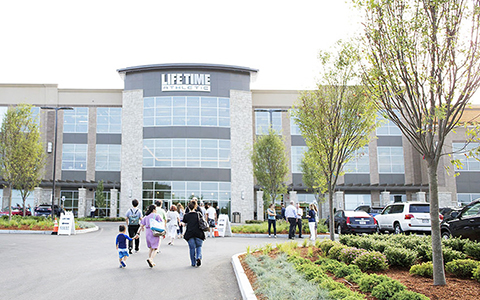Grand opening of Life Time Athletic Club in Burlington, Massachusetts.