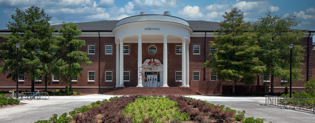 Exterior Shot of Dobo Hall on UNC Wilmington's Campus