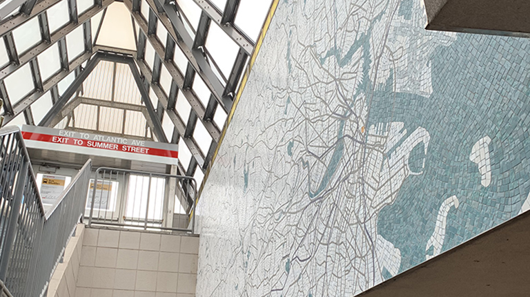 VHB Celebrates Art Installation by WTS in Boston's South Station.