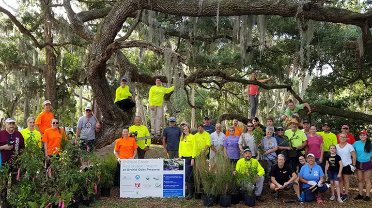 Pillippi Creek gets a clean-up from volunteers from VHB Sarasota.