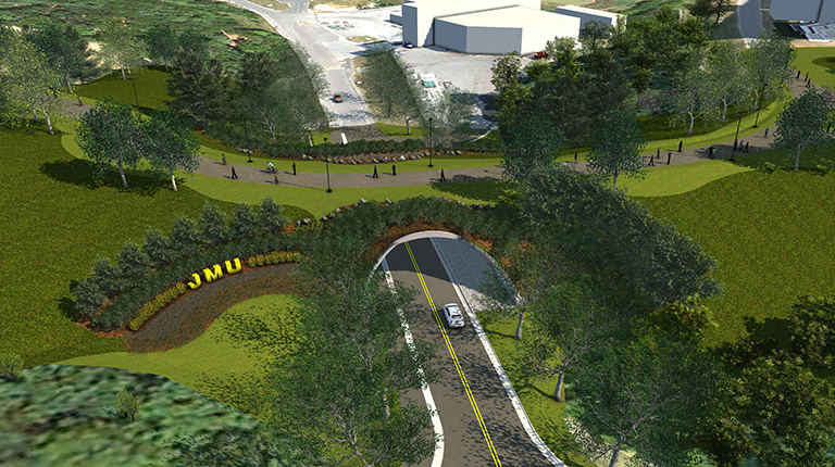 VHB helps improve campus connectivity with a land bridge at JMU.