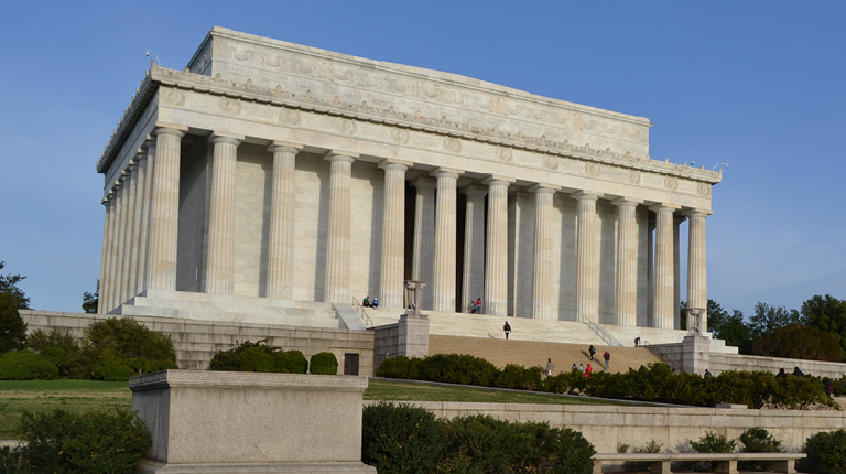Exterior of the Lincoln Memorial